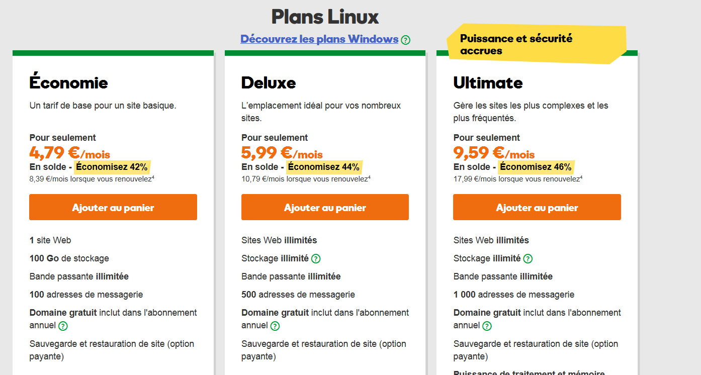 godaddy-comparatif